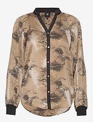 NÜ Denmark - Colby Shirt - blouses à manches longues - camel mix - 0