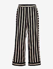 NÜ Denmark - Elina Calli Pants - pantalons larges - black mix - 0