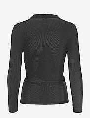 NÜ Denmark - Cait Blouse wrap lurex - t-shirts basiques - black - 1