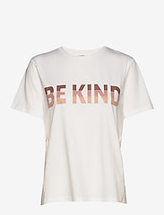 NÜ Denmark - Cabell Tee kind - t-shirts imprimés - burned siena mix - 0