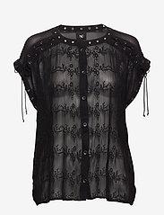 NÜ Denmark - Chica Blouse - blouses à manches courtes - black - 0