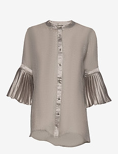 Celia Shirt - blouses med lange mouwen - grey cigar