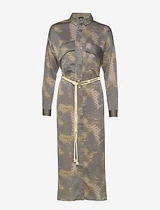 Colby Dress - shirt dresses - magnet grey mix