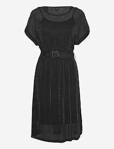 Cyra Dress - do kolan & midi sukienki - black