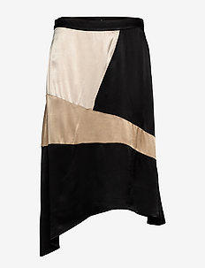Cadi Skirt - do kolan & midi - black mix