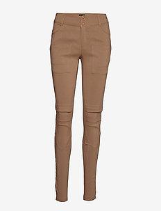 Nola Cue Pants - spodnie rurki - camel