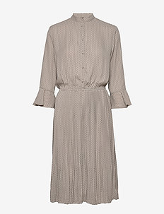 Carrie Dress RECYCLED - do kolan & midi sukienki - grey cigar mix