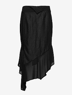 Deva Skirt - midinederdele - black