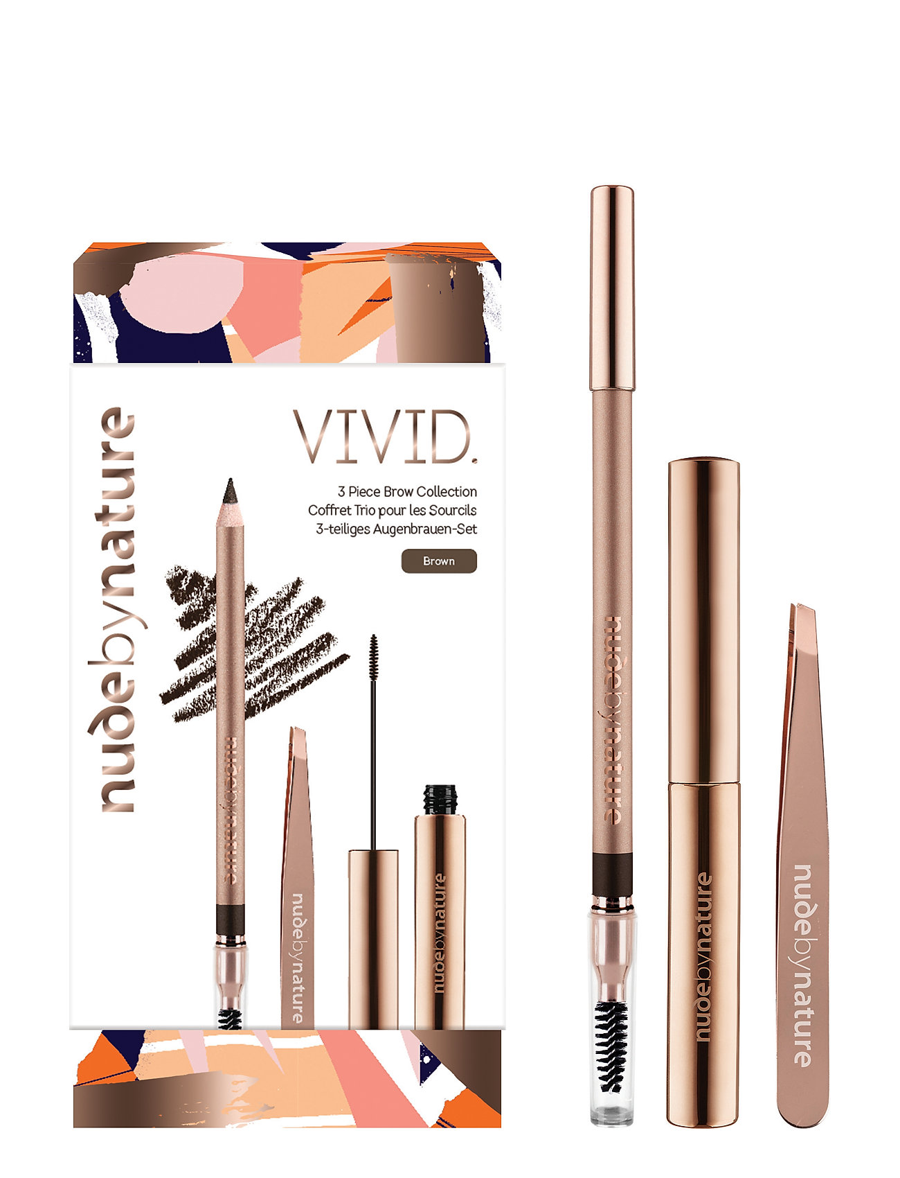 Nude by Nature KITS NATURAL BROWS KIT - BLONDE - BLONDE