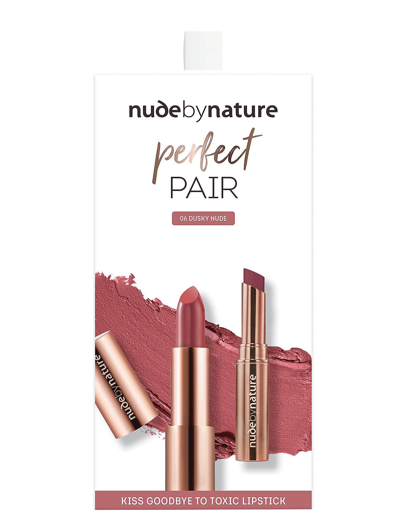 Image of Kits Perfect Pair Lip Kit Dusky Nude Makeupsæt Makeup Nude By Nature (3350217187)