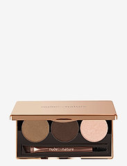 Nude by Nature - DEFINITION BROW PALETTE PRECISION BROW PALETTE 02 BROWN - Øyebrynsskygge - 02 brown - 0