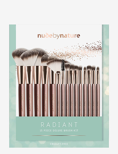 SÆT 15 PIECE RADIANTROSE GOLD BRUSH SET - sminkset - no color