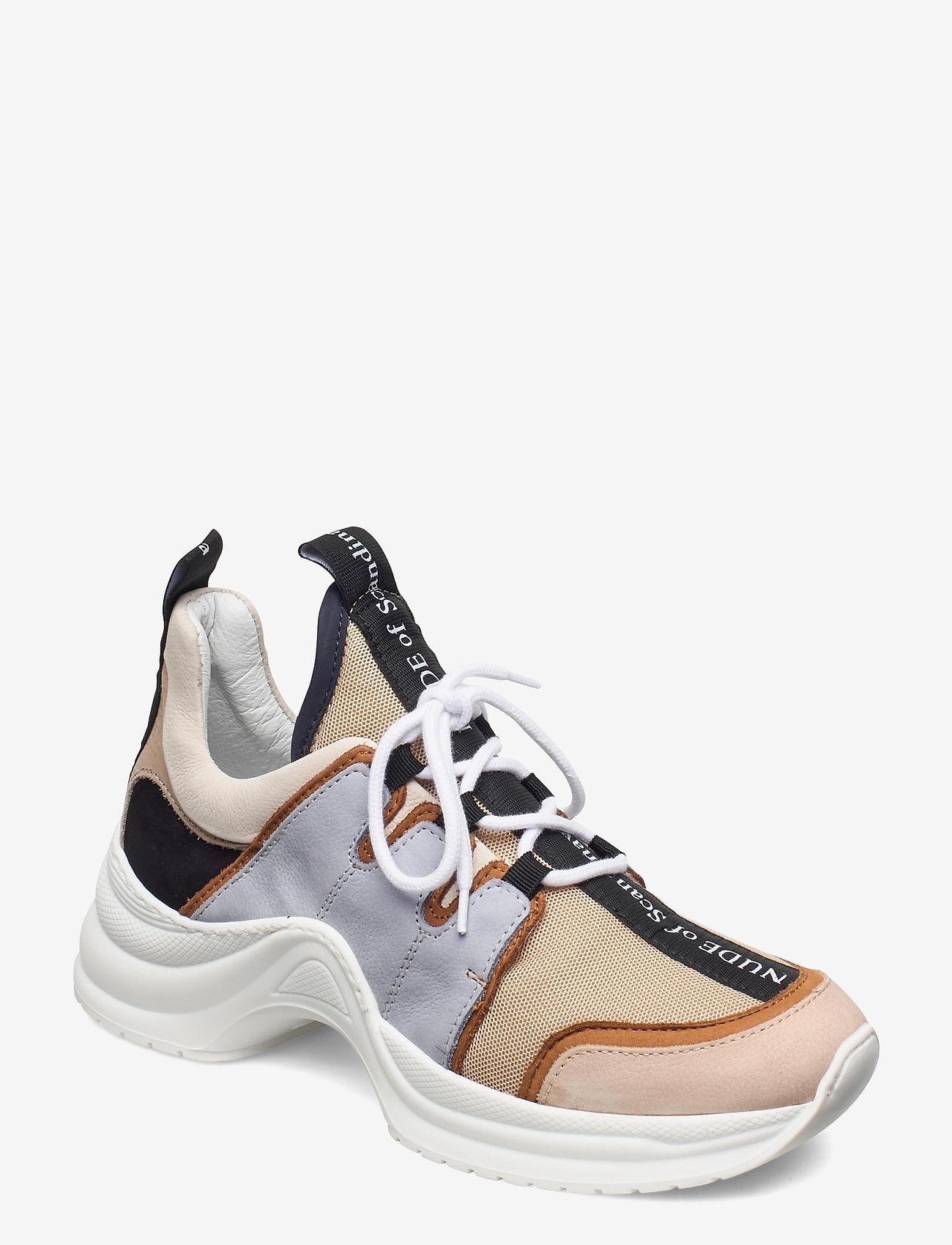 Nude of Scandinavia - JOY - chunky sneakers - mix / polvere - 0