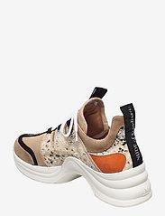 Nude of Scandinavia - JOY - chunky sneakers - mix snake/arancio - 2