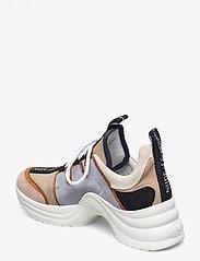 Nude of Scandinavia - JOY - chunky sneakers - mix / polvere - 2