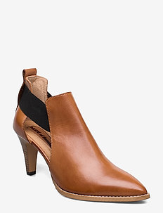 TUVA - heeled ankle boots - tequila/cuoio