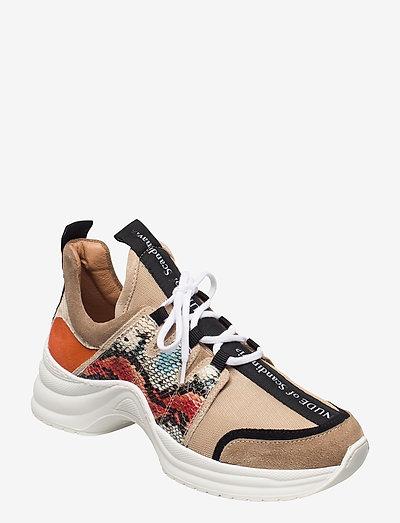 JOY - chunky sneakers - mix snake/arancio