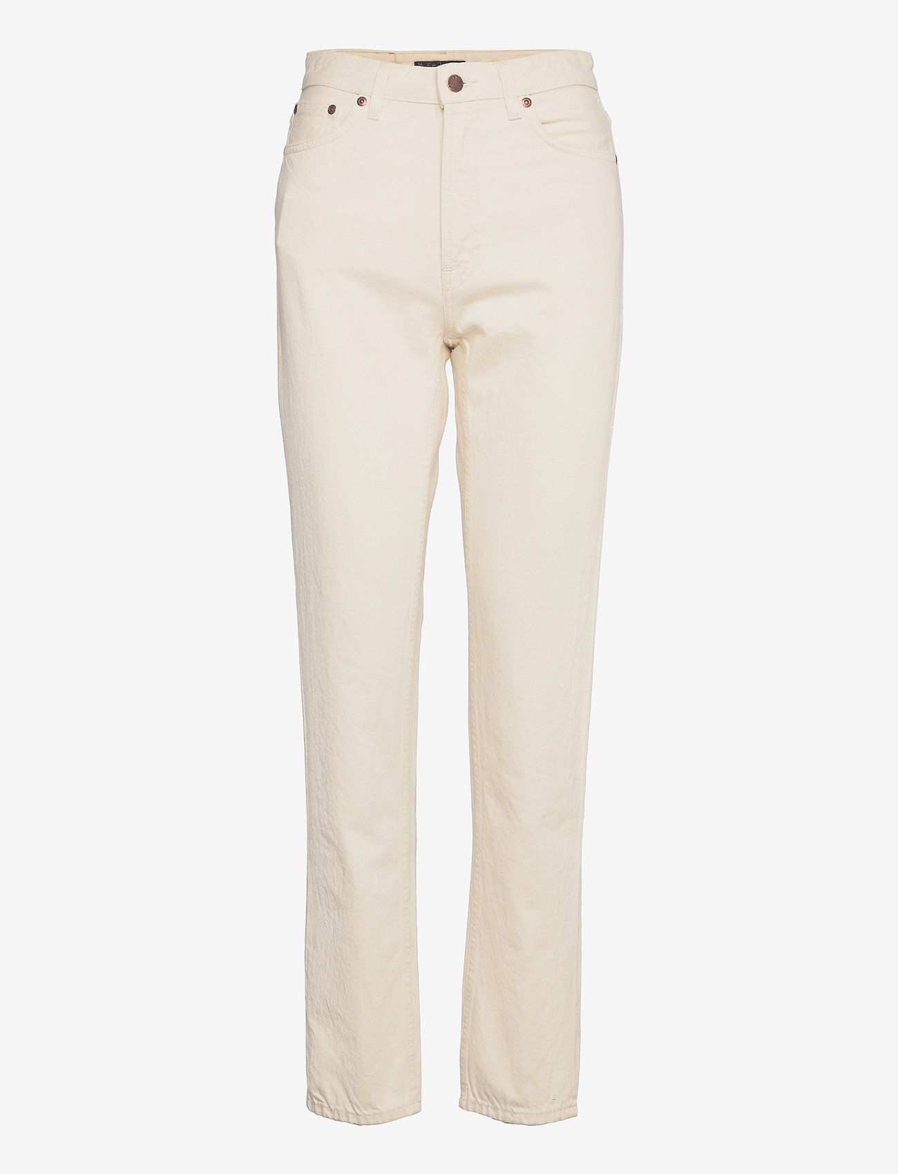 Nudie Jeans - Breezy Britt - straight regular - dusty white - 1