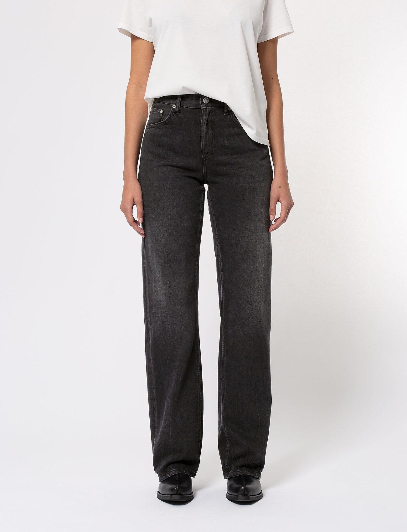 Nudie Jeans - Clean Eileen - straight regular - shimmering black - 0