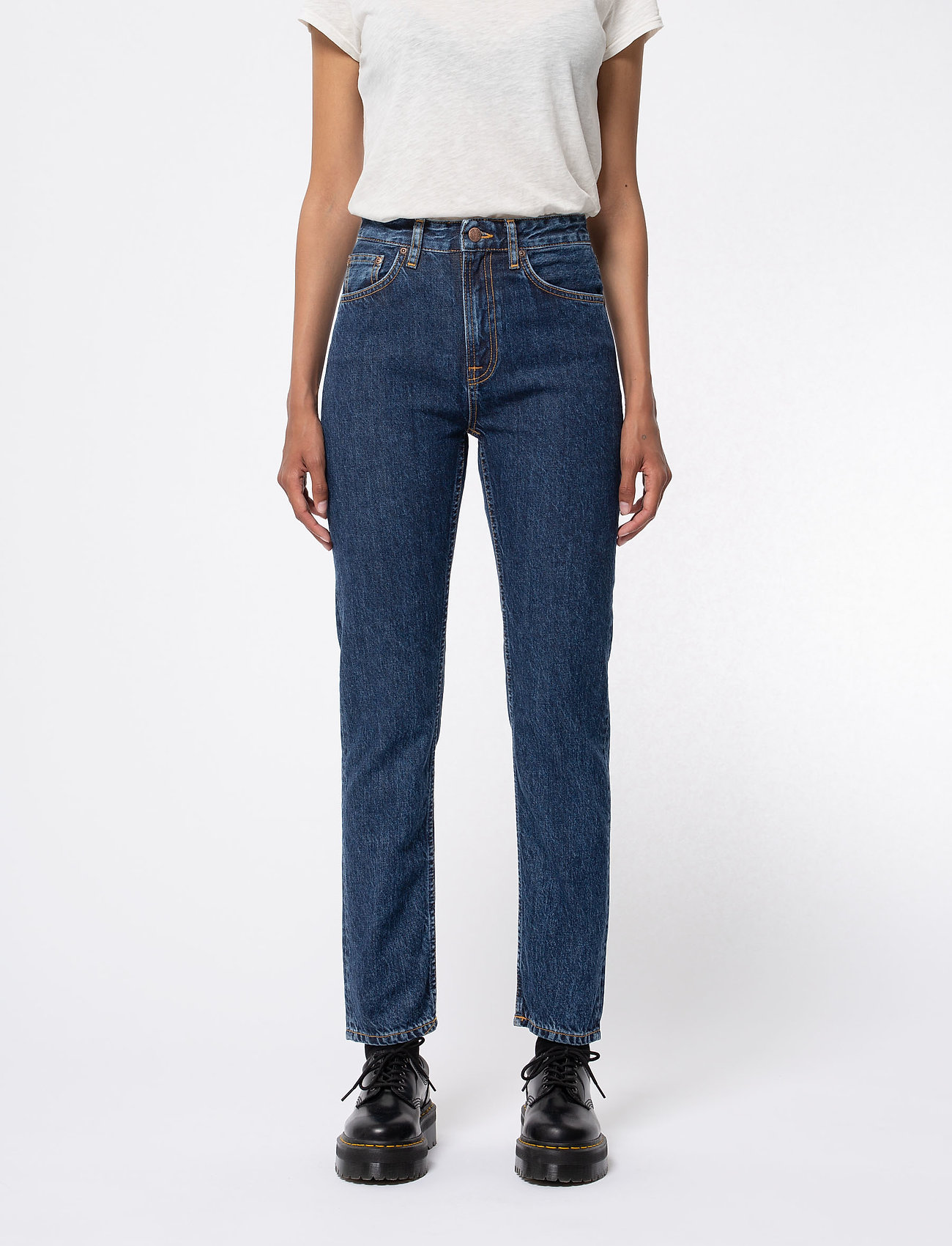 Nudie Jeans - Breezy Britt - straight regular - dark stellar - 0
