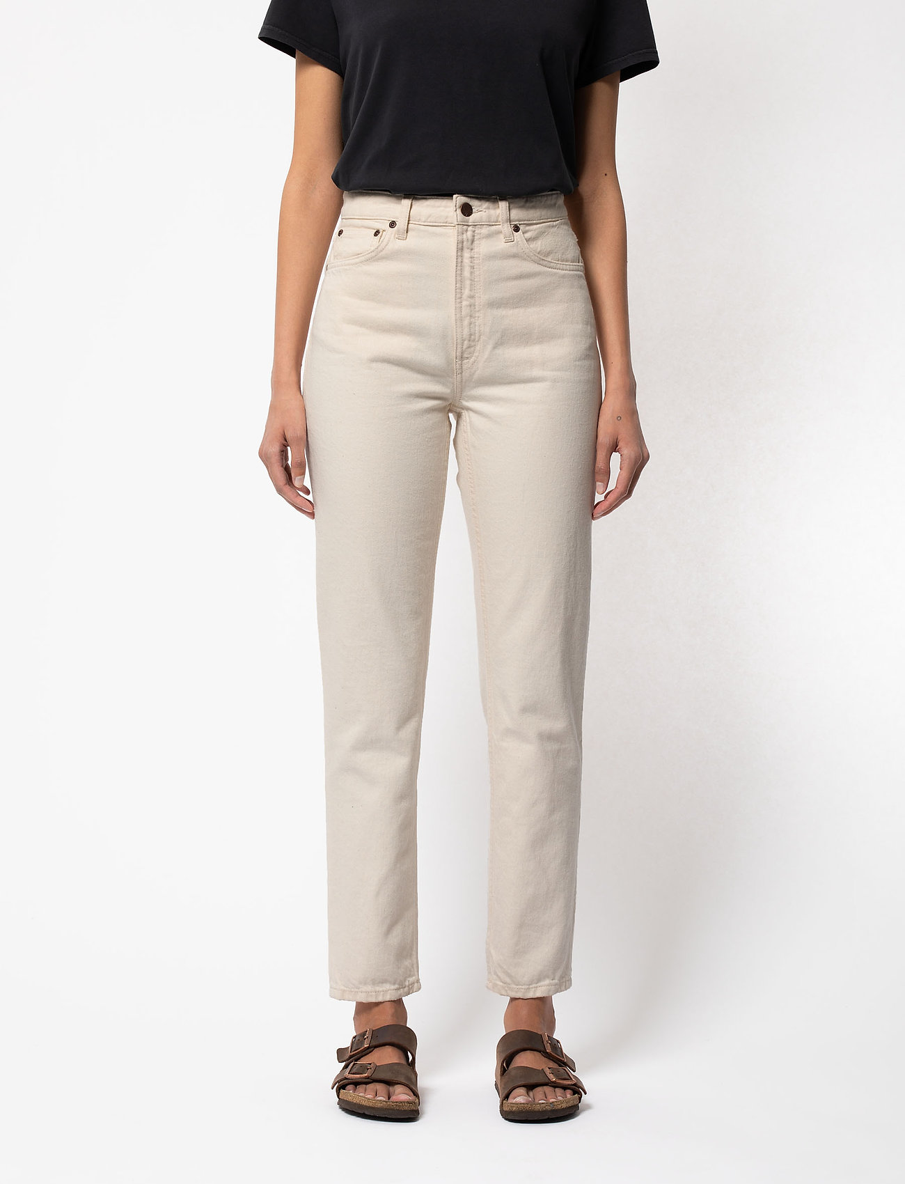 Nudie Jeans - Breezy Britt - straight regular - dusty white - 0