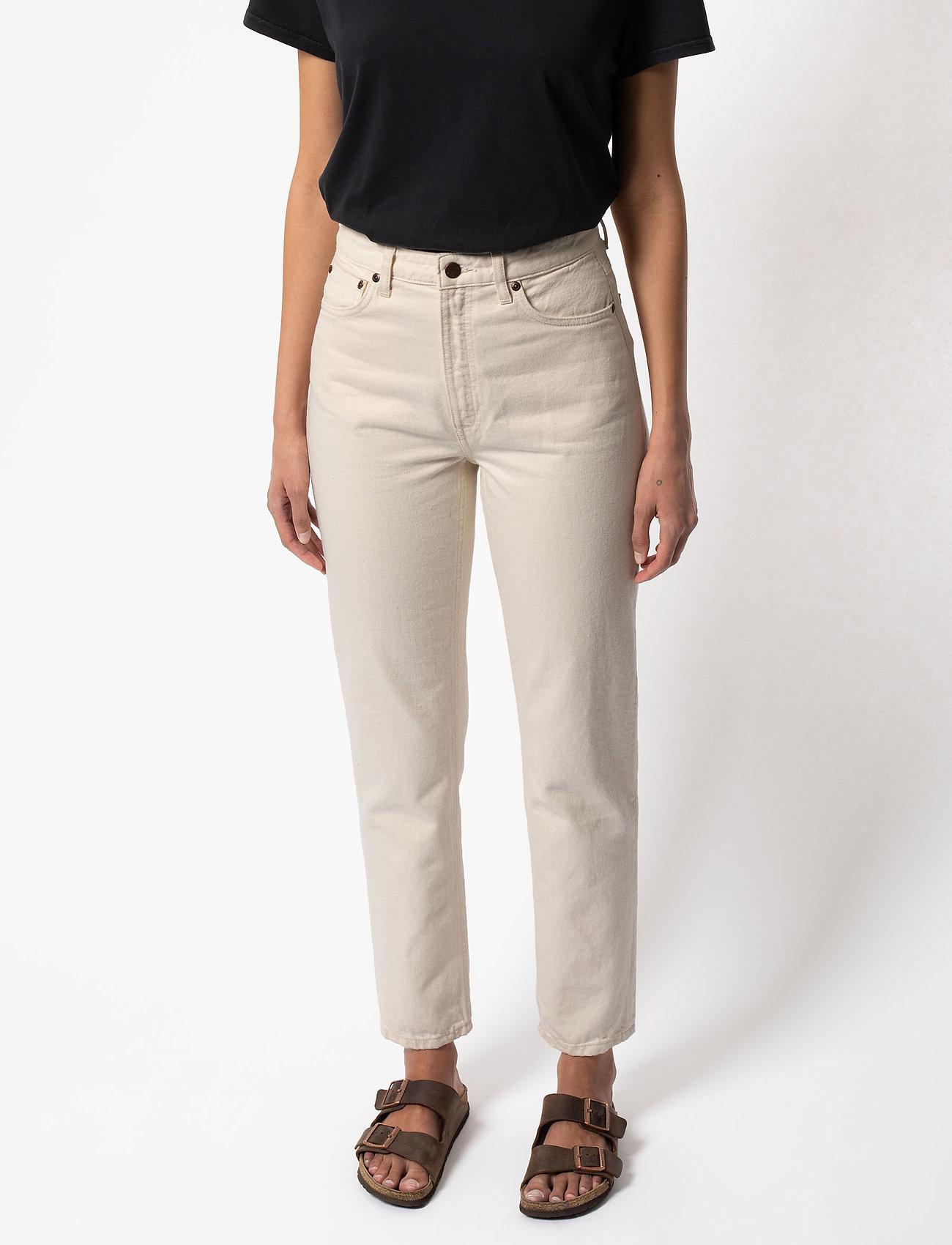 Nudie Jeans - Breezy Britt - straight regular - dusty white - 4