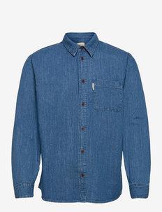 Hebbe Humble Blue - linnen overhemden - denim