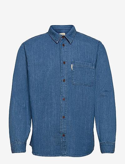 Hebbe Humble Blue - chemises de lin - denim
