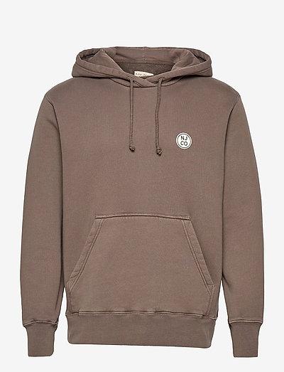 Franke NJCO Circle - bluzy z kapturem - washed brown
