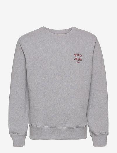 Frasse Logo Sweatshirt Black - swetry - greymelange