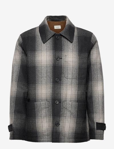 Mangan Shadow Check Jacket - odzież - black check