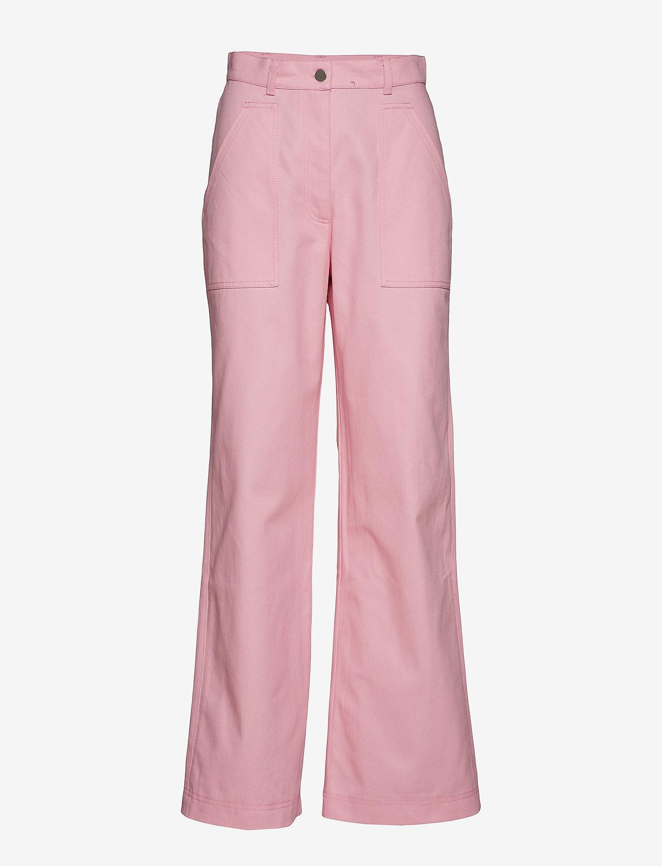 nué notes - Dominique Pant - wide leg trousers - pink lady