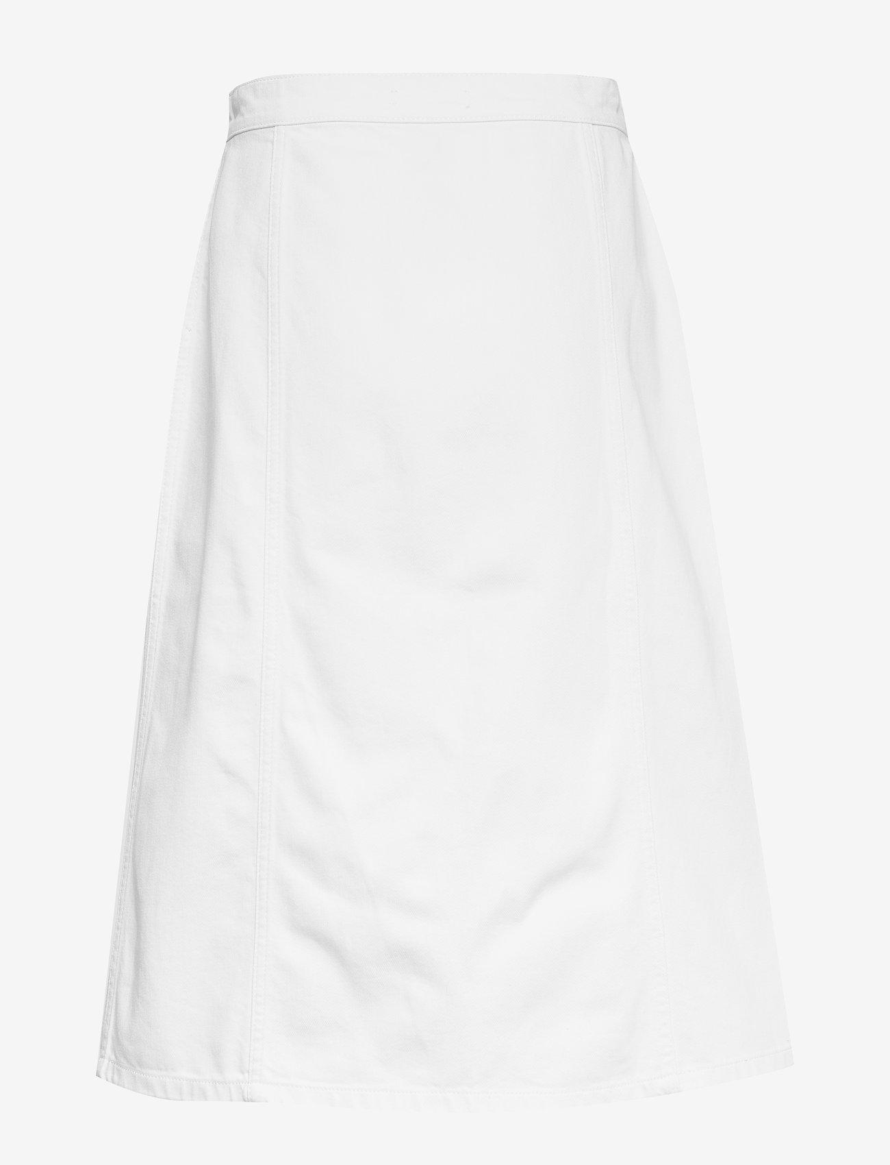 nué notes - Elissa Skirt - denim skirts - white