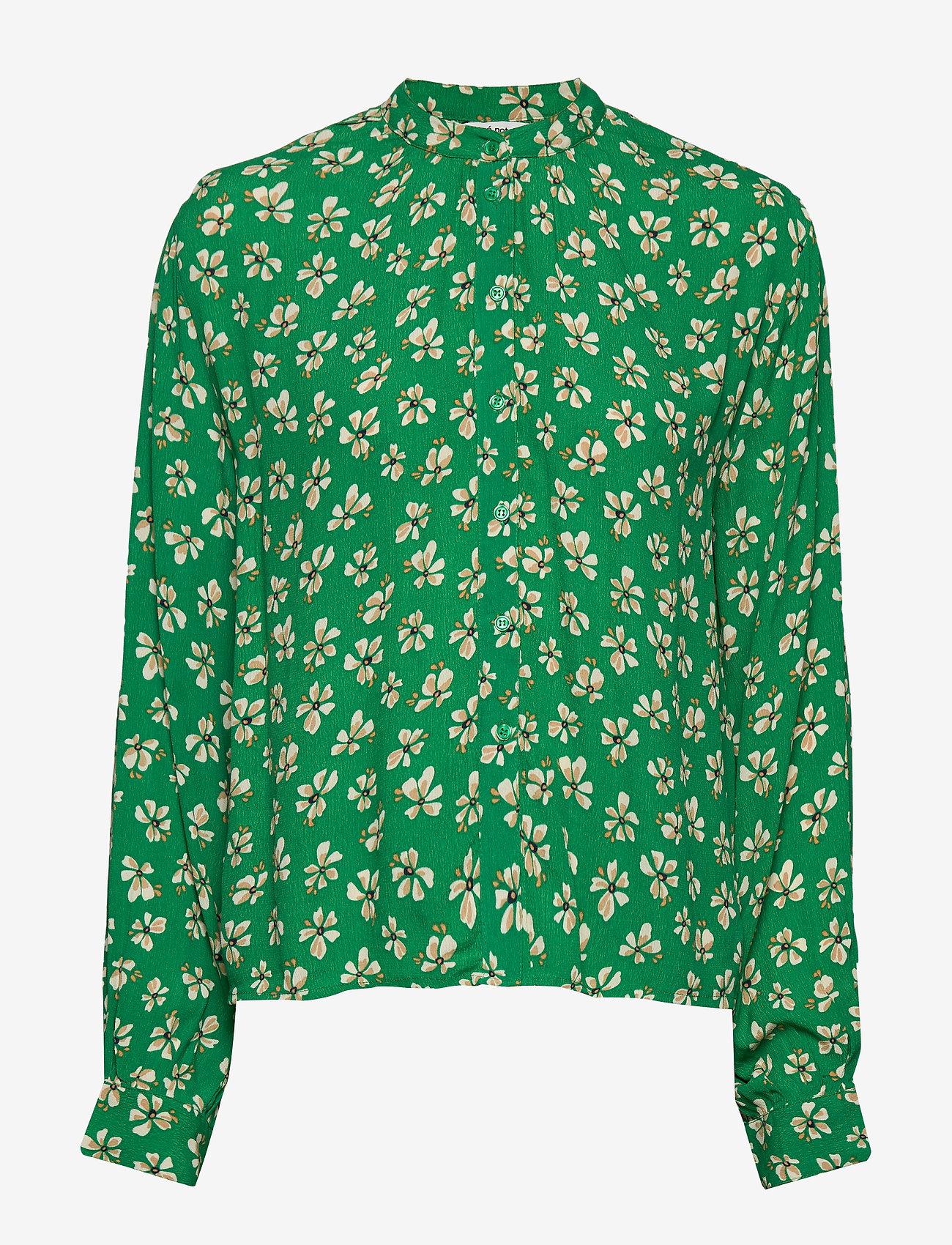 nué notes - Aline Shirt - blouses à manches longues - leprechaun green - 0