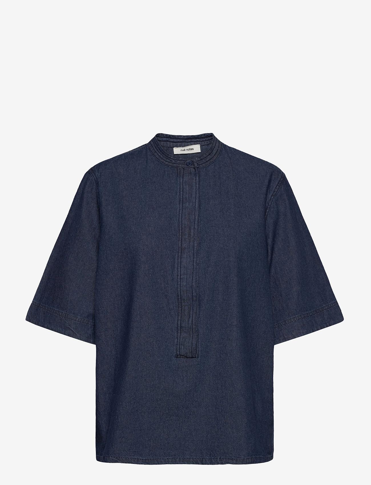 nué notes - Lilje Shirt - jeansblouses - denim blue - 0