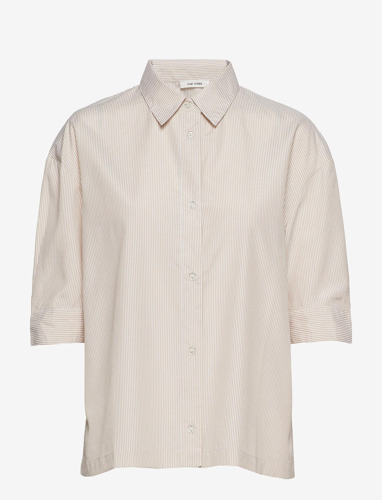 nué notes - Minelli Shirt - overhemden met korte mouwen - sand - 0