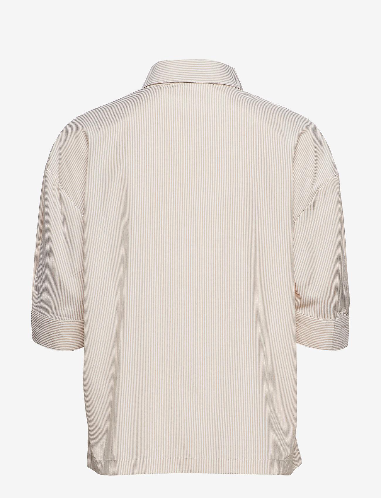 nué notes - Minelli Shirt - overhemden met korte mouwen - sand - 1