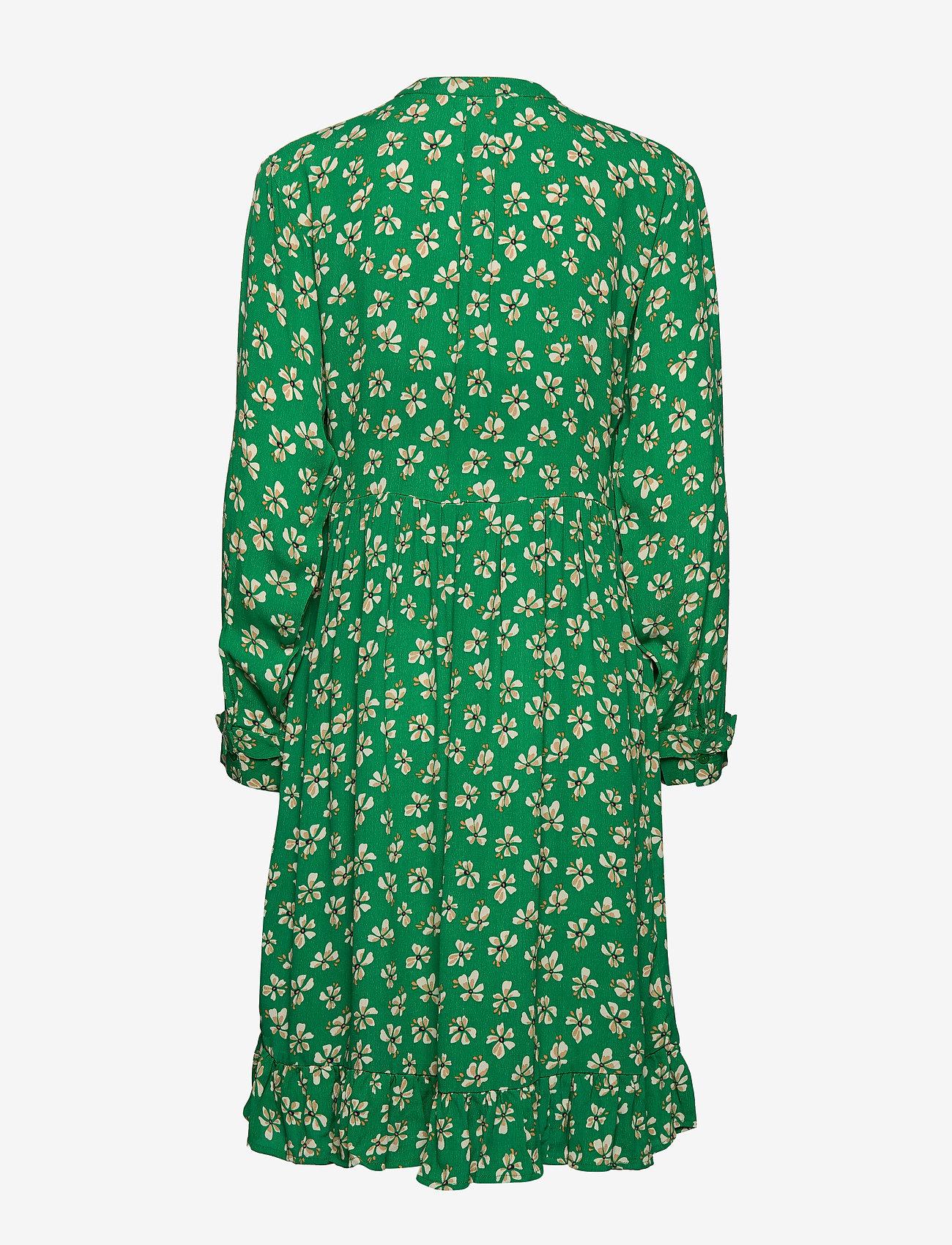 nué notes - Maia Dress - robes midi - leprechaun green - 1