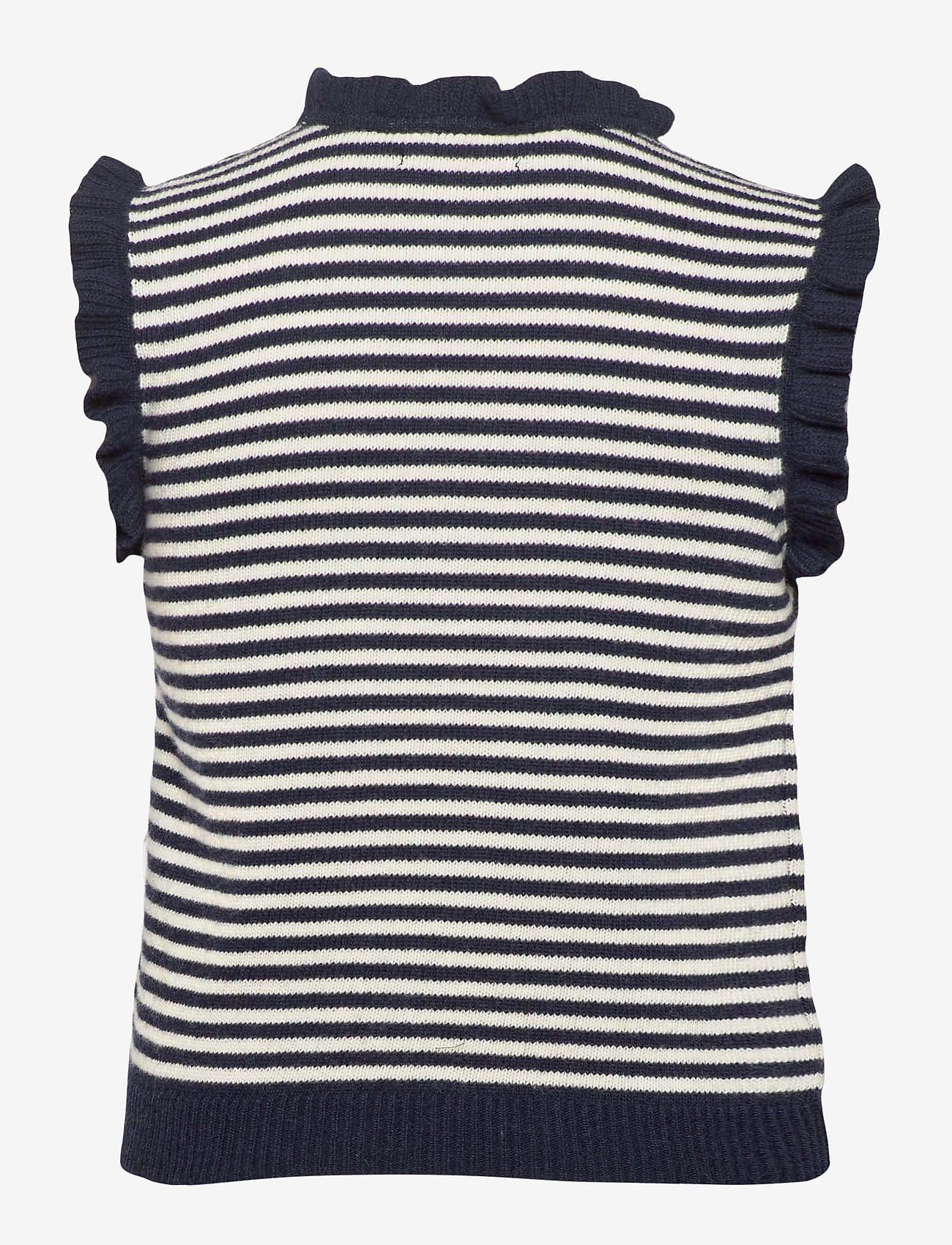 nué notes - Madison Waistcoat - knitted vests - navy - 1