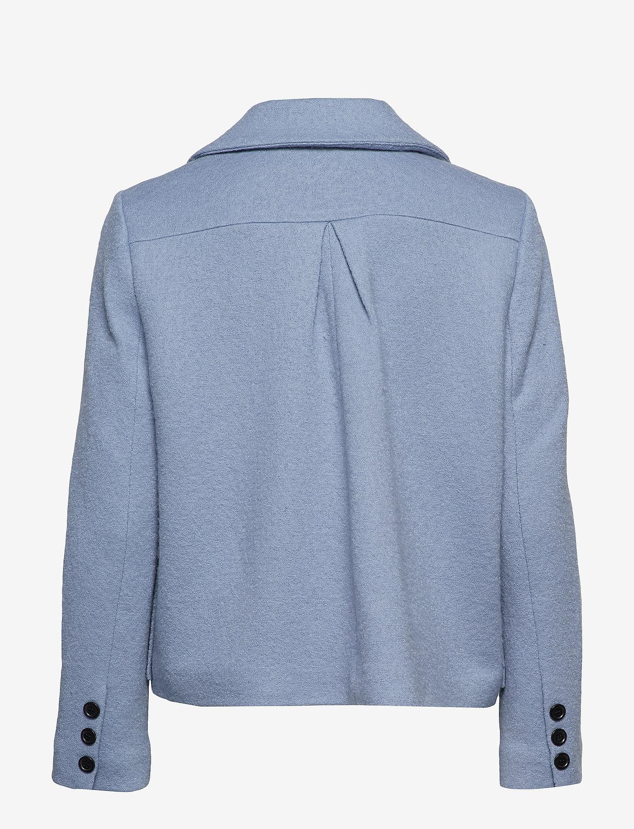 nué notes - Frank Coat - wełniane kurtki - dusty blue - 1