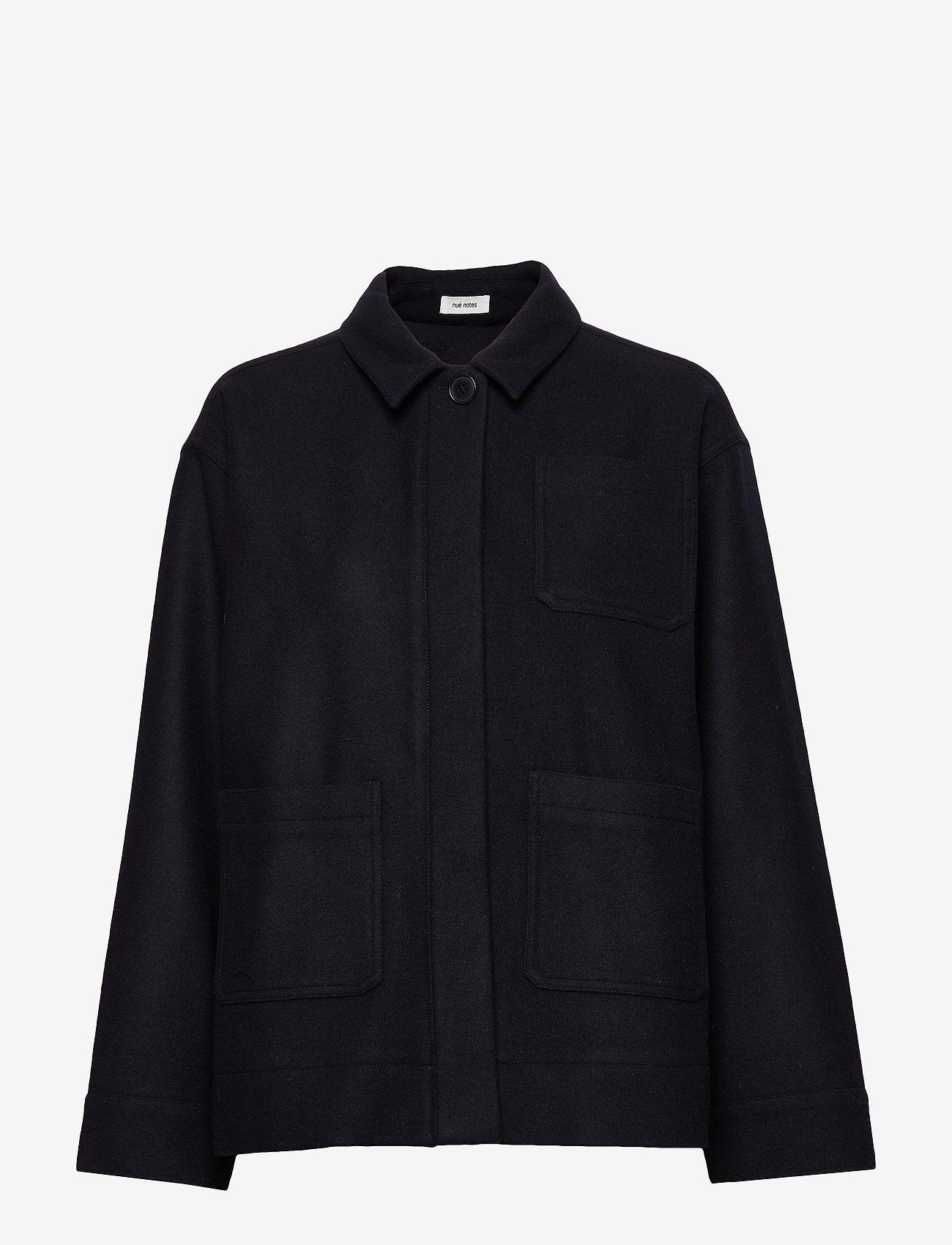 nué notes - Flo Jacket - wool jackets - navy - 0