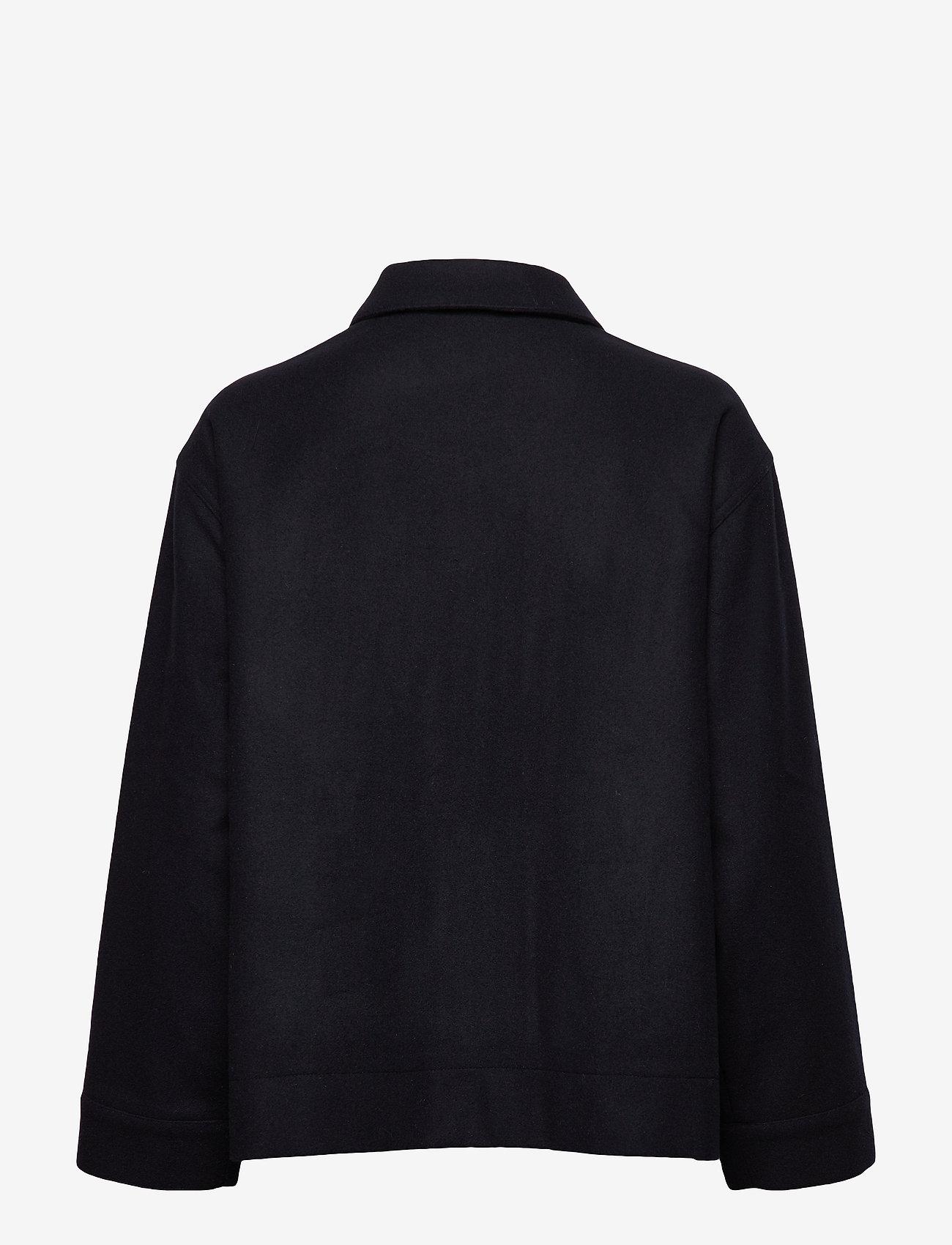 nué notes - Flo Jacket - wool jackets - navy - 1