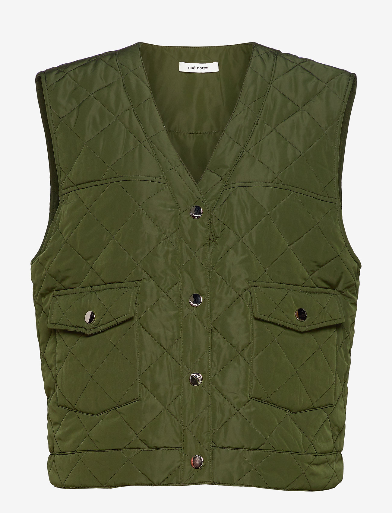 nué notes - Gianna Waist coat - puffer vests - army - 0