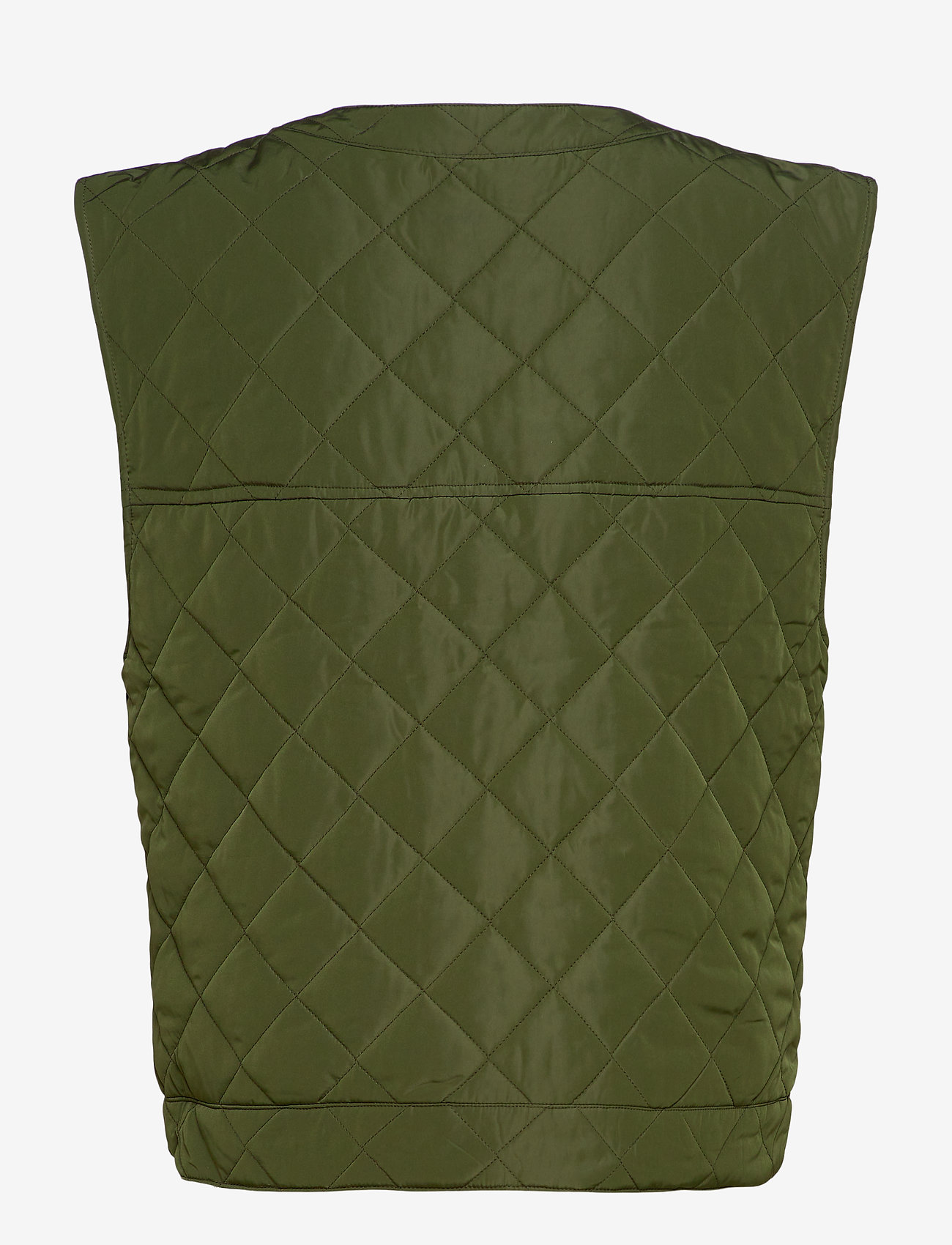 nué notes - Gianna Waist coat - puffer vests - army - 1