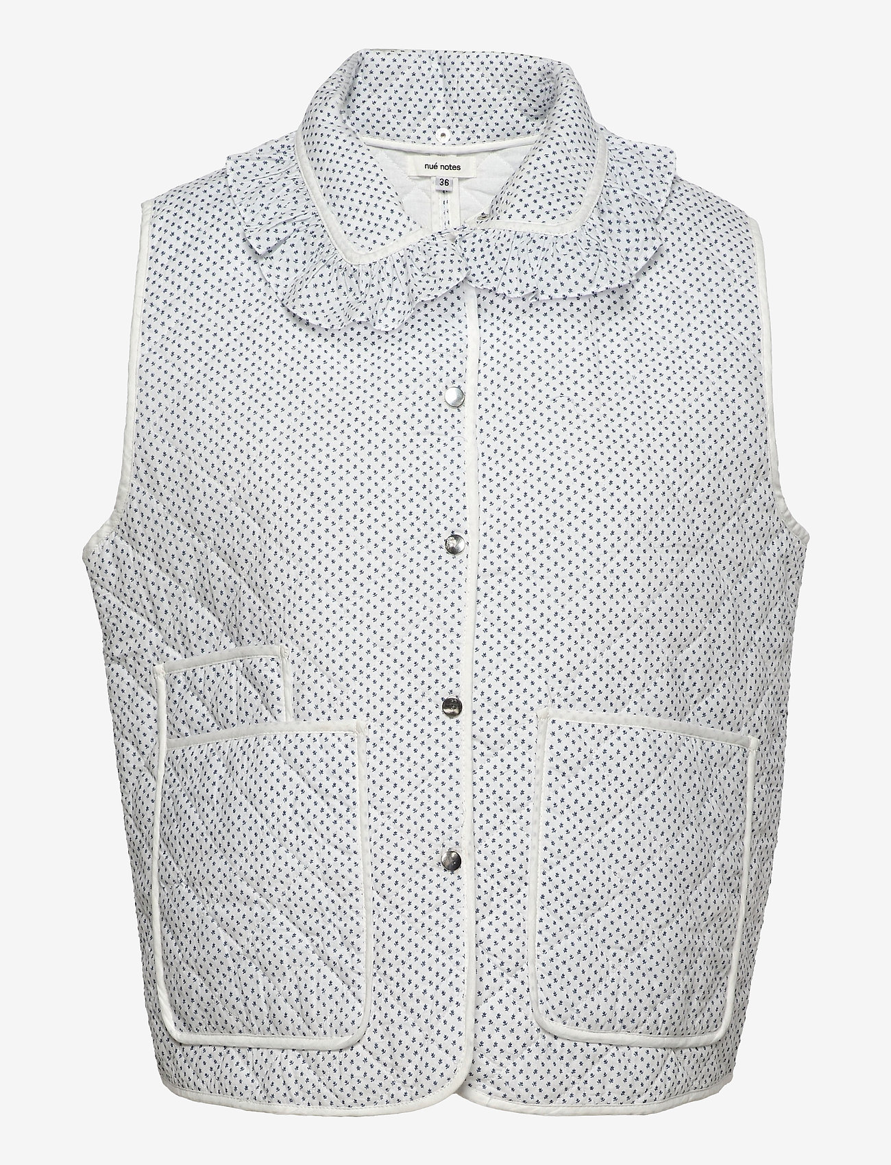 nué notes - Carly Vest - puffer vests - bijoo blue - 0