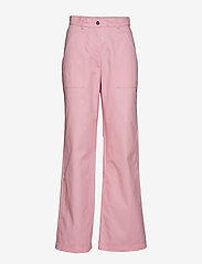 nué notes - Dominique Pant - wide leg trousers - pink lady - 0