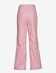 nué notes - Dominique Pant - wide leg trousers - pink lady - 1