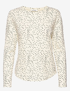Paris T-shirt - langärmlige tops - cloud cream