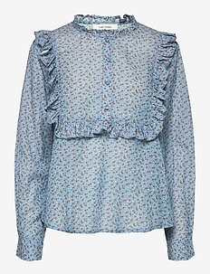 Jacqueline Shirt - long sleeved blouses - silver lake