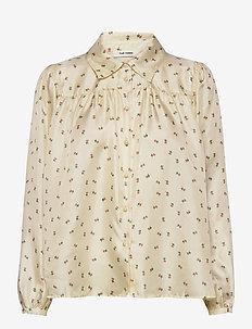 Jenni Shirt - pitkähihaiset puserot - cloud cream